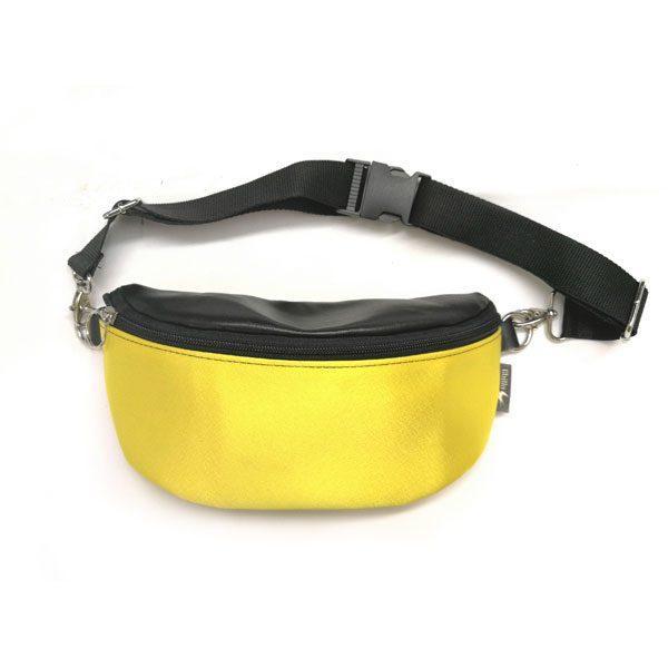 """פאוץ' """"הלגה"""" צהוב שחור"""