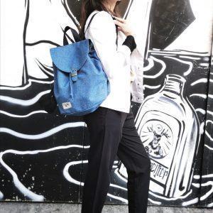 """תיק """"חנה"""" כחול ג'ינס"""